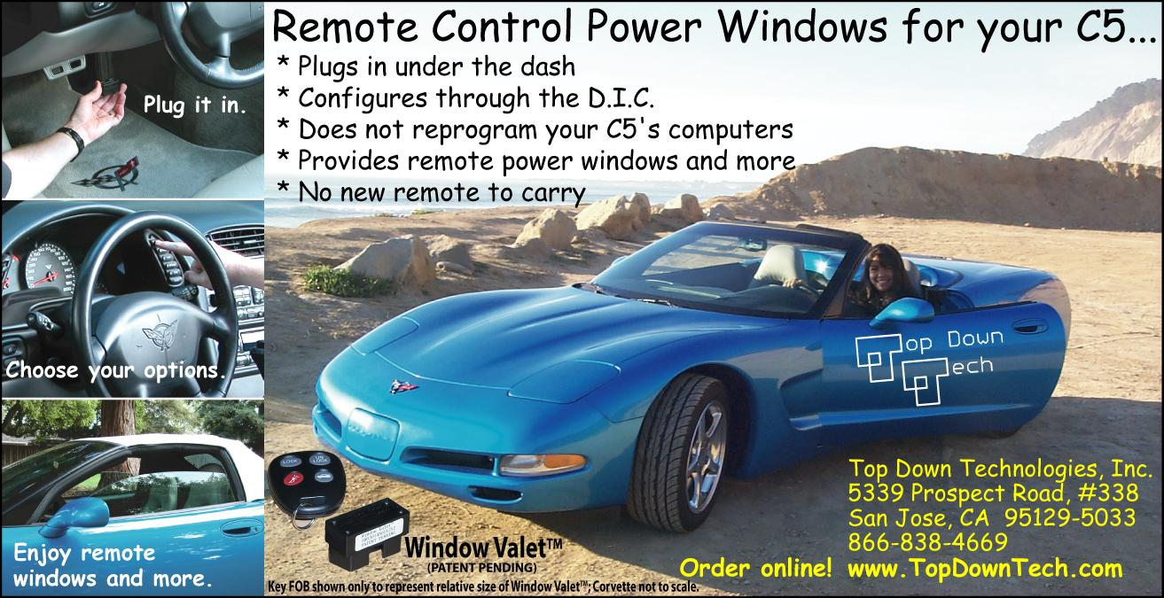 Top Down Technologies Inc Power Windows To Be Operated Only When The Key Is On And For Tech Advertised With Bloomington Gold