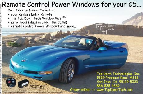 Top Down Tech advertises in Corvette Enthusiast